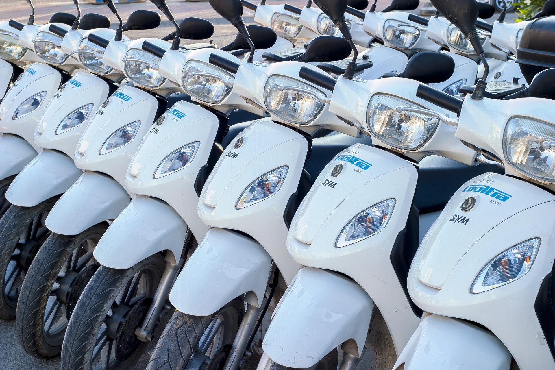 Flotillas de Reparto, Motocicletas